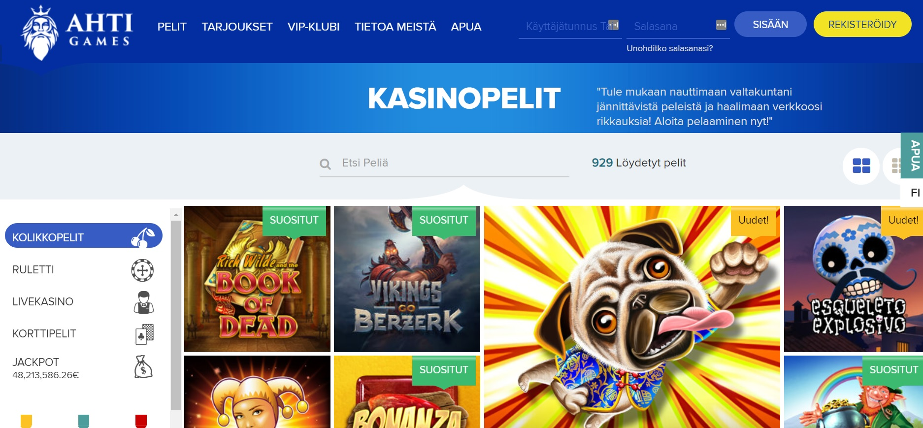 Ahti Games kokemuksia | Casinoproffa