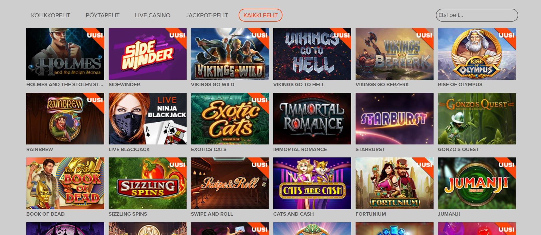Ninja Casino kokemuksia | Casinoproffa