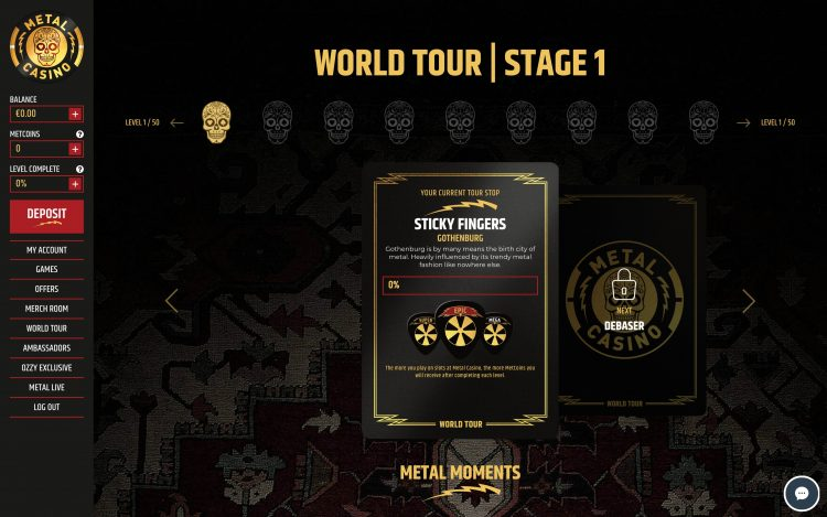 Metal Casino World Tour Gamification