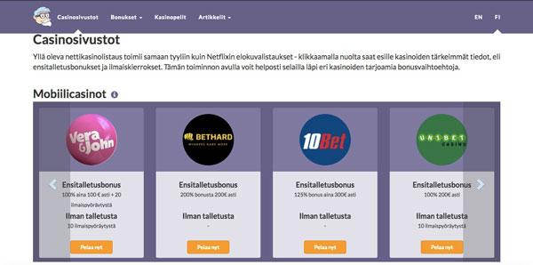 Casino Proffan casino sivustot
