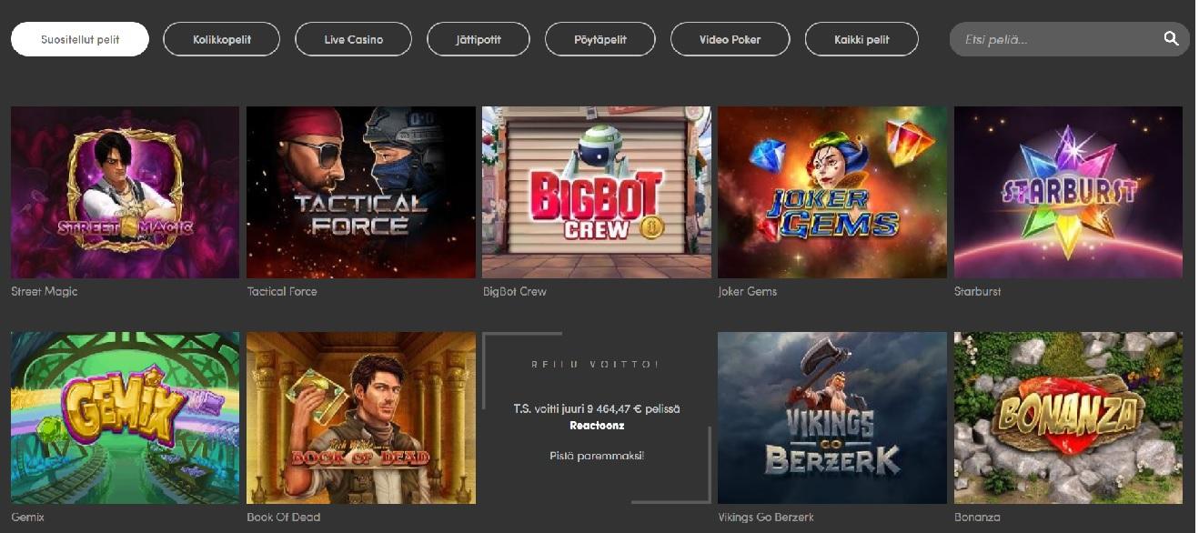 Casinohuone kokemuksia | Casinoproffa