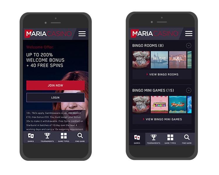 Maria Casino mobiilissa