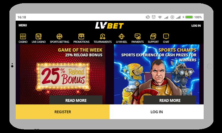 LV BET Mobile Casino