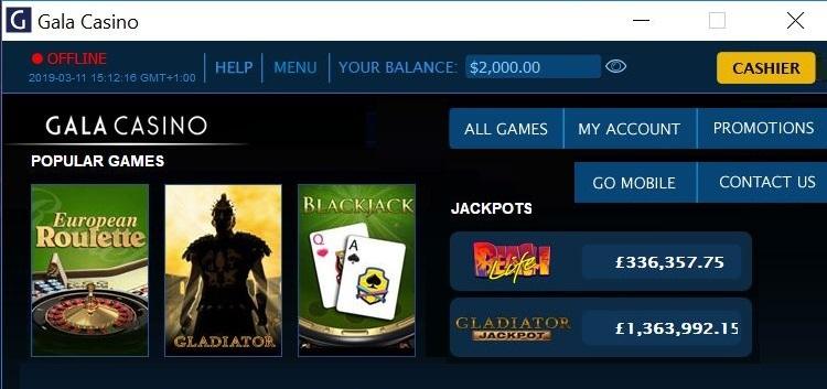 Gala Casino App for Windows