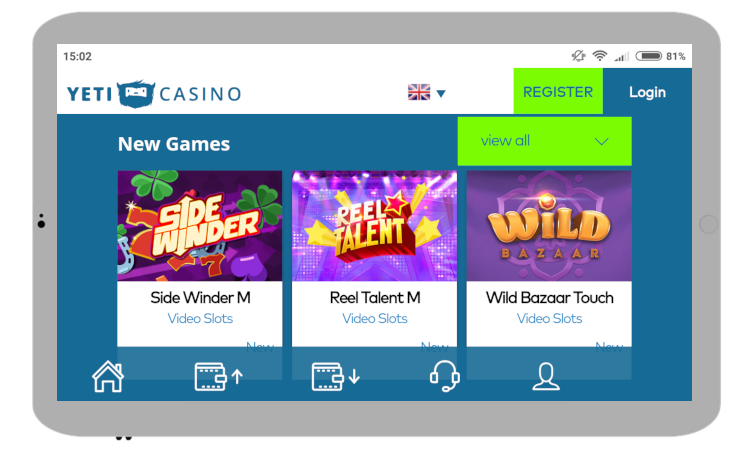 Yeti Casino mobile review
