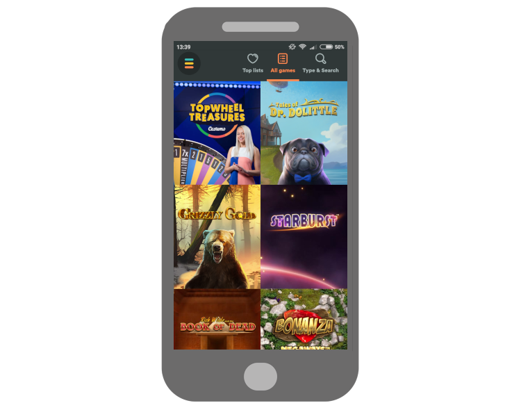 Play Casumo slots on mobile