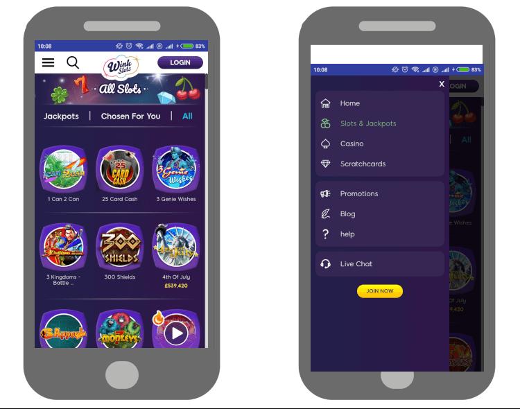 Casino-App für Android von Wink Slots