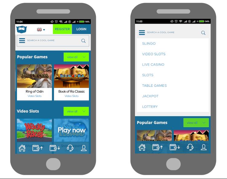 Casino app für Android von Yeti