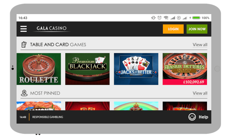 Gala Casino Mobile review