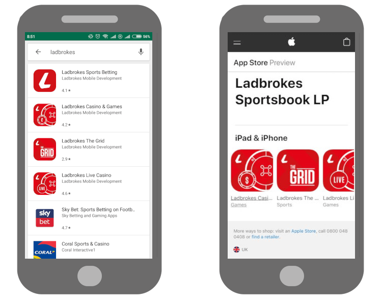 Apple/Android Ladbrokes Casino Apps
