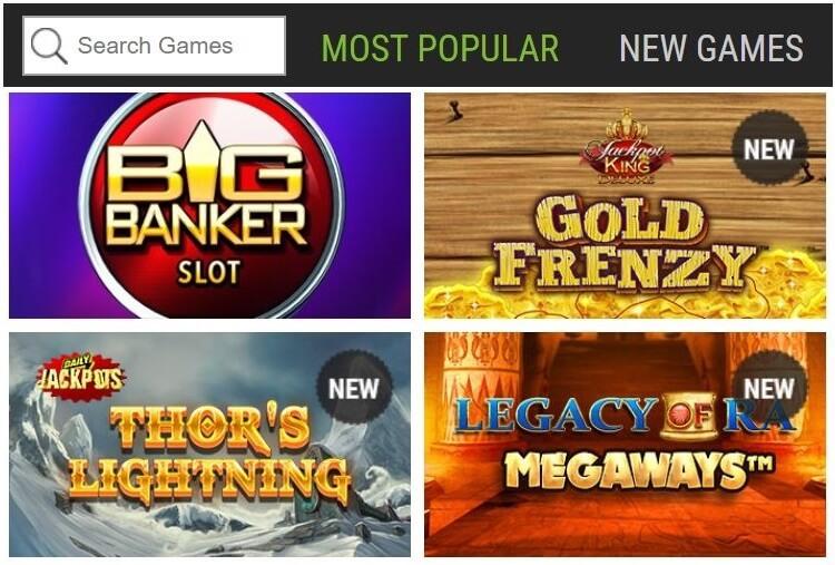 Ladbrokes Casino's Slots & Games
