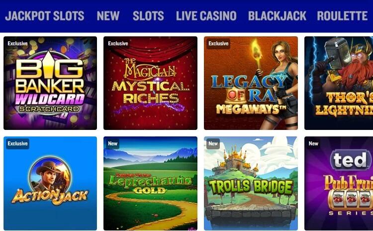 Games & Slots at Foxy Casino