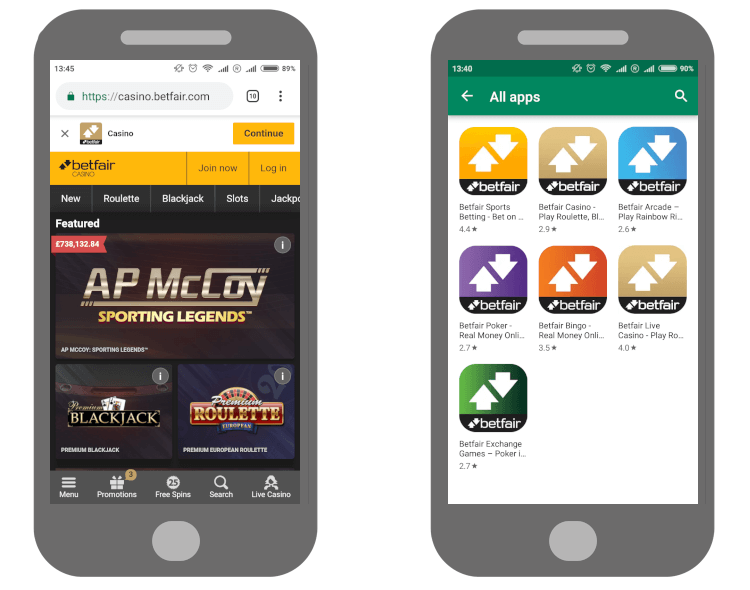 Review of Betfair Mobile Casino