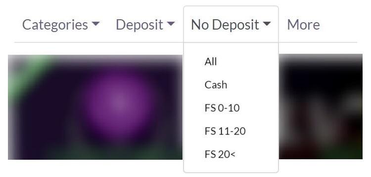 Free spins no deposit - Finden mit den Filtern auf dieser Seite