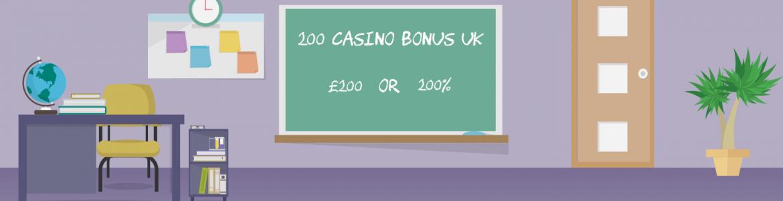 200 Casino Bonus UK