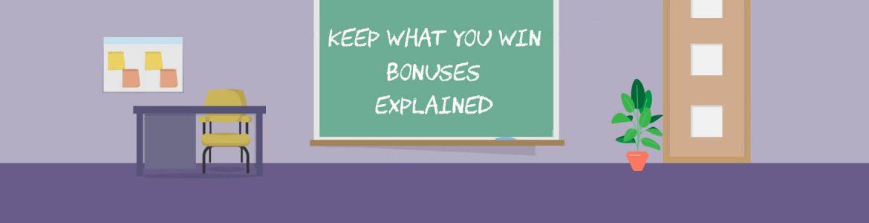 Online casino bonuses keep your winnings