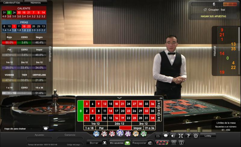 asi luce la ruleta en vivo y en directo de casino gran madrid