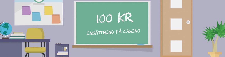 100 kr insättning på casino tavla