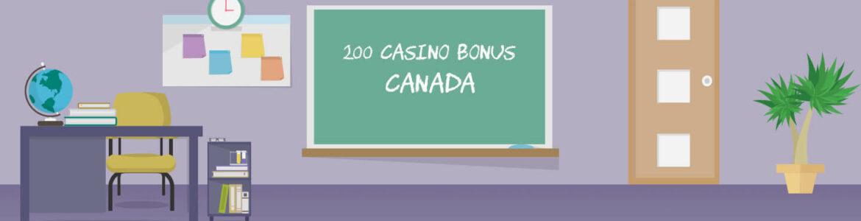 200 casino bonus Canada
