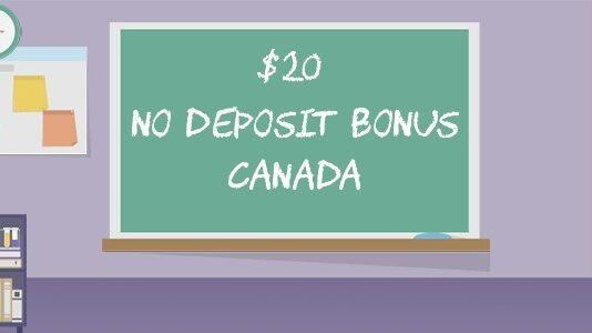 $20 no deposit bonus Canada